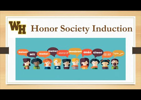 World Languages Honor Society Induction